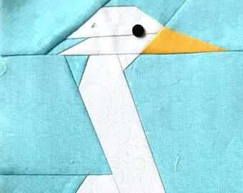 Heron Paper Piecing Block Pattern in PDF