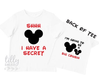 Shhh I Have A Secret I'm Going To Be A Big Cousin TShirt for Boys