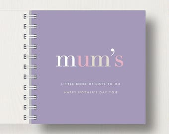 Personalised 'Mum's' Mother's Day Small Notebook