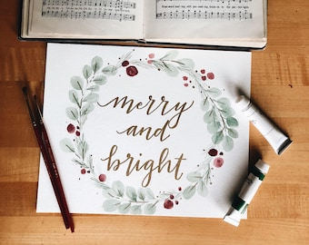 Merry and Bright Painting