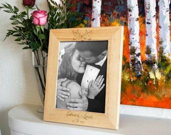 Cadre gravé personnalisé, cadre photo personnalisé, cadre pour un couple, cadeaux de la Saint-Valentin, cadeaux de mariage