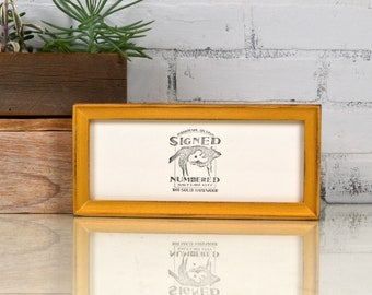 "4x10"" Picture Frame in Foxy Cove Style with Vintage Shimmer Gold Finish - IN STOCK  Same Day Shipping - 4 x 10 inch Panoramic Photo Frame"