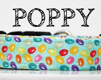 Poppy - Easter Egg Multicolor w/Glitter Handmade Collar