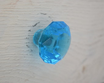 Blue Glass Drawer Knobs In Caribbean Blue, Drawer Pull, Cabinet Pull, Cabinet Knobs