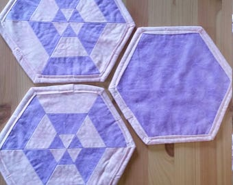 Quilted Pot Holders, set of three