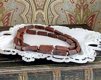 Handmade Poppy Jasper Necklace