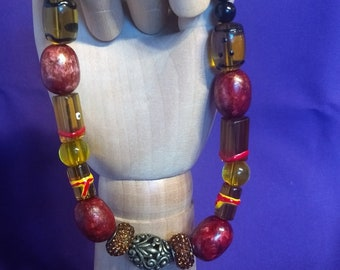 Recycled Bead Necklace