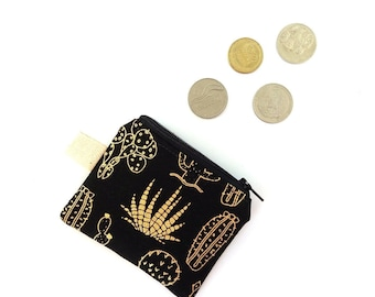 Cactus coin pouch, Earbuds pouch, Coin purse, Lanyard wallet, Cactus Keychain pouch, Tiny wallet for women Small money pouch Lip balm holder