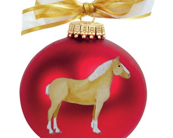 Belgian Horse Hand Painted Christmas Ornament - Can Be Personalized with Name
