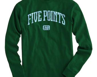 LS Five Points Atlanta Tee - Long Sleeve T-shirt - Men and Kids - S M L XL 2x 3x 4x - Five Points Shirt, ATL - 4 Colors