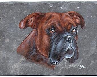 the boxer acrylic pet portrait