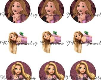 Disney's Rapunzel inspired 1 Inch Bottle Cap Images