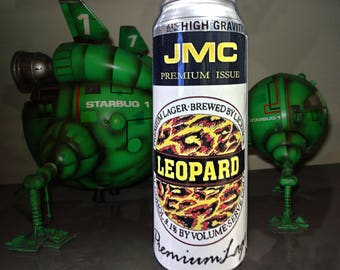 Red Dwarf Replica Prop- Large JMC Leopard Lager Can