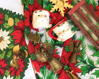 Holiday Holly Poinsettia Candles - Still in Box