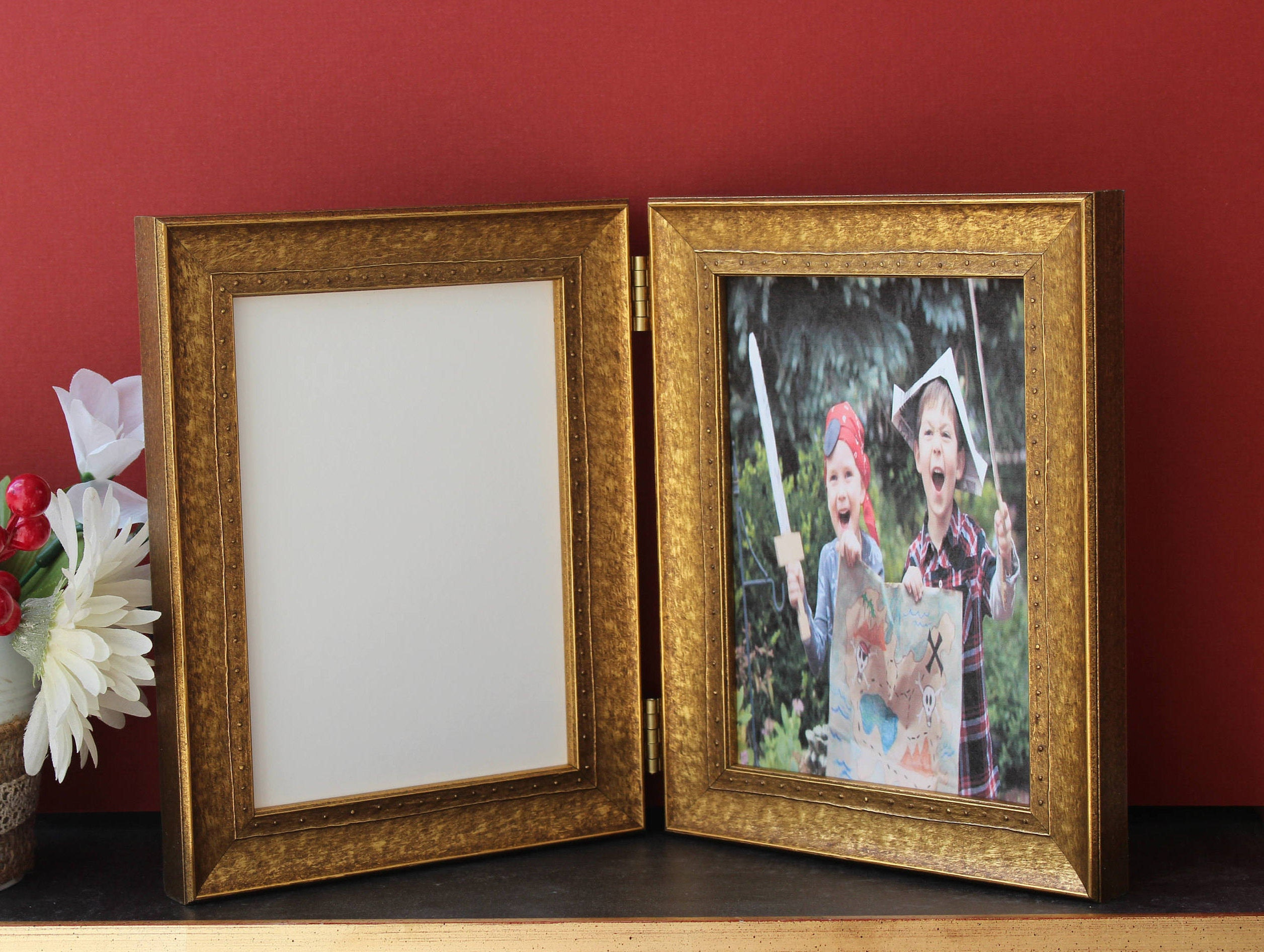 Studded Embossed Double Hinged Photo Frame or Triple Hinged frame ...
