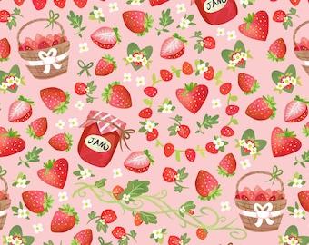 Strawberry jam euro CL knit 1/2 yard cotton lycra knit