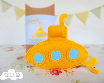 Craft Kit - Felt Kit - Felt Diy Kit - Diy Kit for Kids - Sew Your Own - Craft Gift - DIY Kit - Diy Craft - Sewing Kit - yellow submarine kit