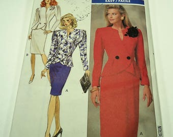 Butterick Easy Misses' Jacket And Skirt Pattern 6959 Size 10