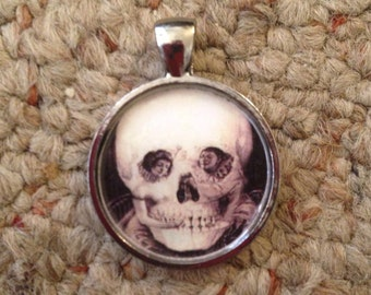 Skull Image Pendant Necklace-FREE SHIPPING-