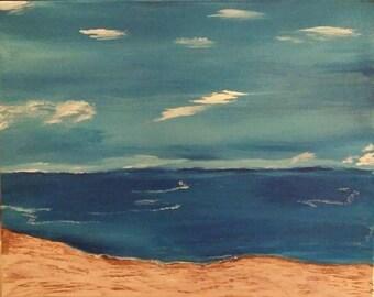 Sandy Beach  -16 x 20 Acrylic on Canvas