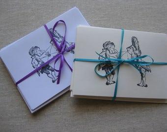 6 Handmade Toad & Frog blank notecard set