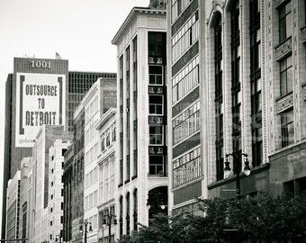 Outsource to Detroit Fine Art Photograph on Metallic Paper