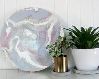 One of a kind resin artwork