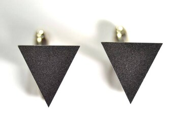Minimal triangle cufflinks matte/glossy gift for him groomsman- minimal geometric cuff links
