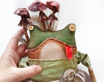 Primitive E-Pattern.Primitive Frog Doll  - JPG File