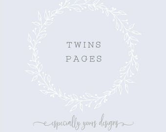 Twins Pages | Twins Baby Book