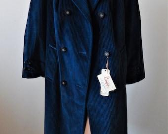 Deadstock 1970s Wide Wale Corduroy Coat Water Repellent Coat Sz 8