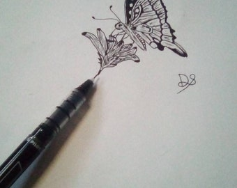 Butterfly pen