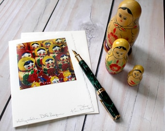 Matryoshka Dolls, Russian Nesting Dolls - Analog Greeting Card - Photography - Travel - Any Occasion - Handmade