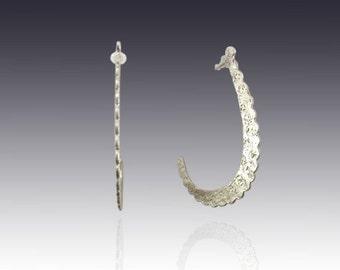 Pure Elegance Earrings - sterling silver and gold stud earrings