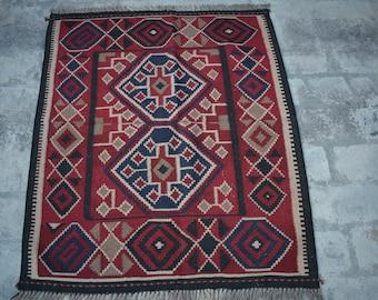 Beautiful Handmade Afghan wool kilim rug