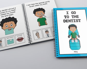 I Go To The Dentist Childrens Book (Filling)- Dental-Boy/PECS social story
