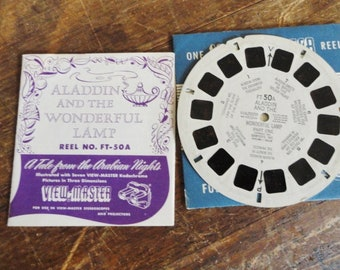 View Master Aladdin and the Wonderful Lamp FT 50A  Vintage 1951 ViewMaster Reel with storybook