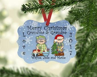 Christmas Ornament, Personalized, Grandparent Gift, Grandparent Ornament, Ornament, Personalized Gift, Custom Ornament, Christmas Ornaments