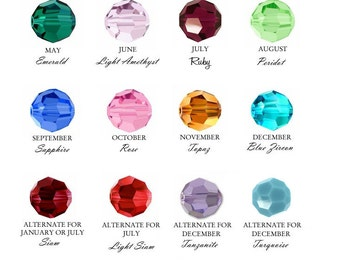 Add a Birthstone or Pearl Charm 4mm -medium