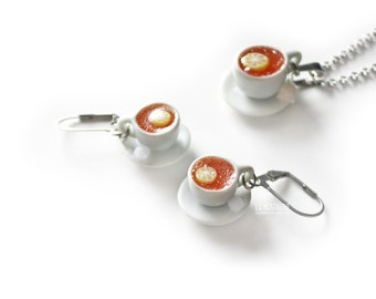 Tea Earrings Teacup Jewelry Cute Everyday Earrings Casual Miniature Food Tea Party Jewellery Tea Lover Gift Mothers Day Polymer Clay