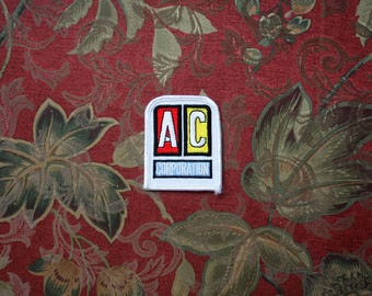 Vintage AC Corporation Embroidered Patch. 70s or 80s Rare Worker Driver Industrial Patch. White Worker Trucker AC Corporation Patch