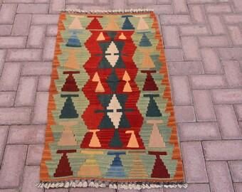Kilim rug vintage turkish kilim rug anatolian antique kilim rug hand knotted home decor kilim small kilim rug pink rug table rug 64 x 110 cm
