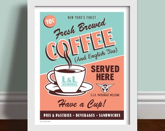 Agent Carter - L and L Automat Coffee Art Print Poster