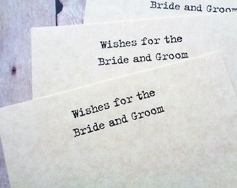 Make a Wish Cards Wedding Bride Groom Wishes Rustic Vintage Style Card Set