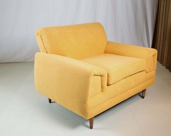 Mid Century Modern Orange Lounge Chair Armchair Classic Retro 1950s Restored