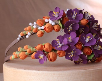 Hair aliceband polymer clay flower.