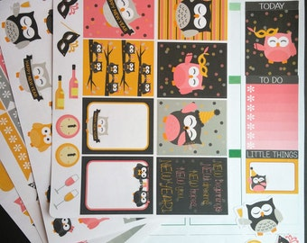 New Year's Owl Weekly Planner Kit!  Available for Erin Condren Life Planner or MAMBI/Happy Planner