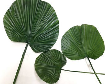 Fan palm, faux, palm leaves, artificial, palm decor, tropical decor, faux Fan Palm, Jungalow style, palm floral, palm arrangement