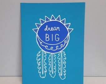 """12 x 9 """"Dream Big"""" Painted Canvas"""