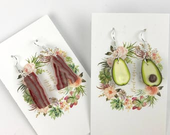 Miniature Food Earring Sets